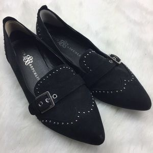 Rock & Republic Black Studded Flats Size 9